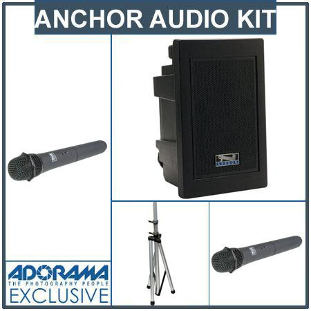 Anchor Audio EXP U Explorer Pro Wireless Receivers SS Stand Two Wireless Handheld Microphone 94 - 759