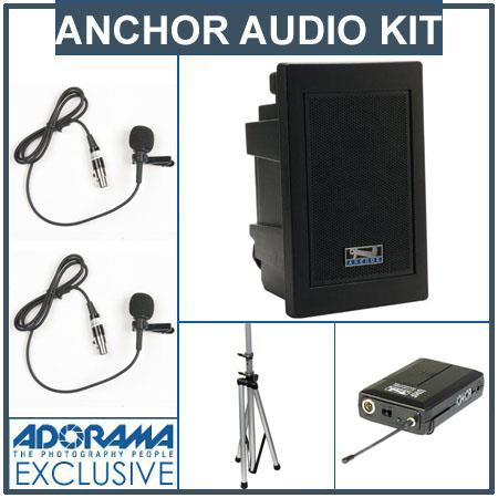 Anchor Audio EXP U Explorer Pro Wireless Receivers SS Stand Two Lapel Microphone BodyPack Transmitte 170 - 29