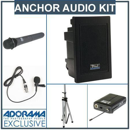Anchor Audio EXP U Explorer Pro Wireless Receivers SS Stand HandheldLapel Mic BodyPack Transmitters 115 - 391