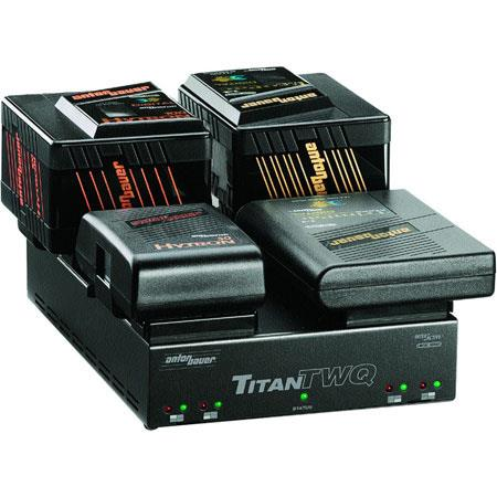 Anton Bauer Titan TWQ Simultaneous Interactive Position Gold Mount Battery Charger All Battery Chemi 194 - 286