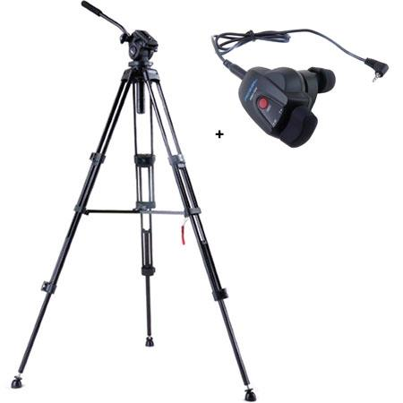 Acebil i DX Stage Compact Lightweight Aluminum Tripod Ball Leveling Head Bundle Acebil RMC DVX Video 56 - 204