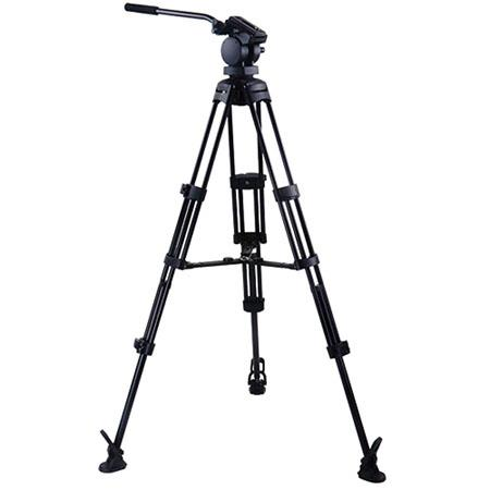 Acebil P MX Professional Tripod System QR Video Pan Head Aluminum Tripod MS Middle Brace RF Foot Sup 152 - 364