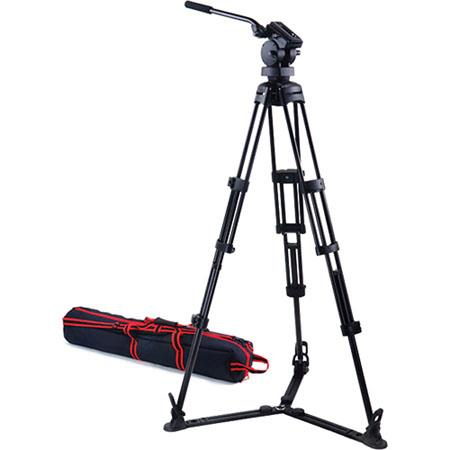 Acebil P GX Professional Tripod System H Fluid Head Aluminum Tripod GS Ground Spreader S Carry Case  84 - 410