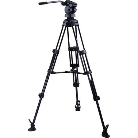 Acebil P MX Professional Tripod System H Fluid Head Aluminum Tripod MS Mid Level Spreader RF Rubber  40 - 499