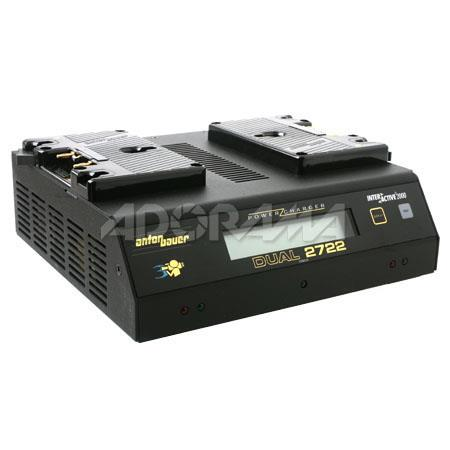 Anton Bauer Dual Simultaneous Position Power Charger LCD Built Discharge Module and watt Power Suppl 94 - 712