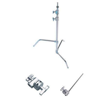 Avenger Century Lightstand Double Riser C Stand One Sliding Leg Extension Arm Grip Head Chrome Steel 91 - 399