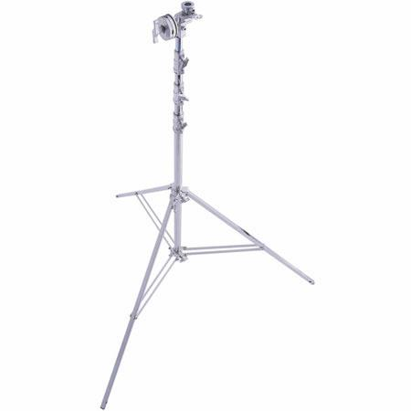 Avenger High Overhead Wide Base Lightstand Four Riser Chrome 124 - 539