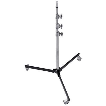 Avenger High Baby Studio Roller Lightstand Mounting Stud Four Riser Chrome Steel Base Column Aluminu 133 - 135