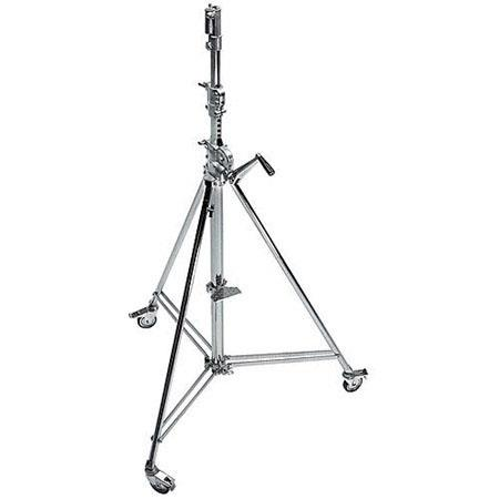 Avenger Wind Up Cine Stand Braked Wheels Sections Risers and Leveling Leg Chrome Steel 194 - 16
