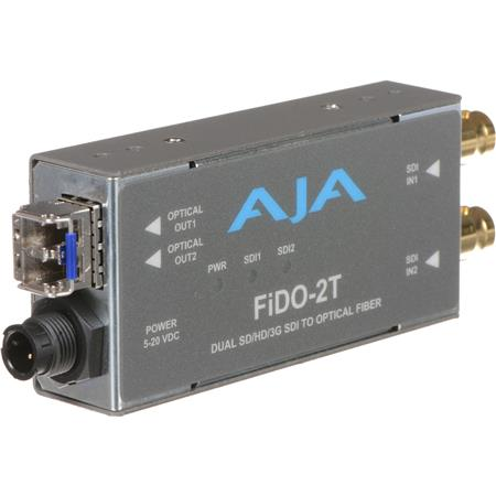 AJA FiDO T Single Channel SDI to Fiber Converter Looping SDI Output 79 - 384