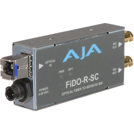 AJA FiDO R SC Single Channel Optical Fiber SC to SDI Converter Dual SDI Outputs 74 - 245