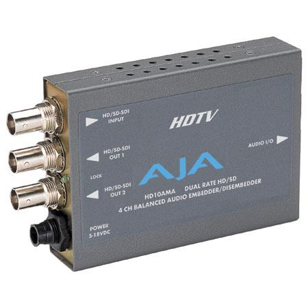 AJA HDAMA HDSD Channel Analog Audio EmbedderDisembedder PLEASE NOTE POWER SUPPLY SOLD SEPARATELY 284 - 83