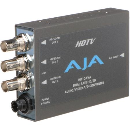 AJA HDAVA SDHD Analog Composite or Component Video Channel Analog Audio to SDHD SDI Embedded Audio P 36 - 616
