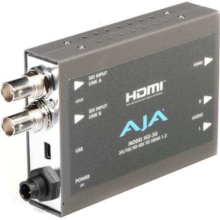AJA Hi GDual linkHDSD SDI to HDMI a Video and Audio Converter PLEASE NOTE POWER SUPPLY SOLD SEPARATE 103 - 323