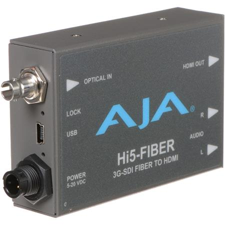 AJA Hi Fiber HDSD SDI Over Fiber to HDMI Video and Audio Converter 36 - 616