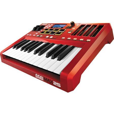 Akai MAX Key USB MIDI Keyboard ControllerLED Touch FadersMPC Pads 59 - 599