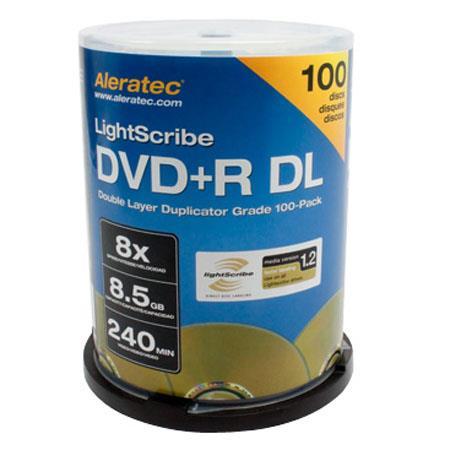 AleratecDVDR DL Double Layer LightScribe V Duplicator Grade Media Pack 75 - 337