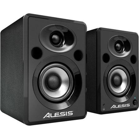 Alesis Elevate Powered Desktop Studio Speakers W Peak Power W Output Power Pair 100 - 31