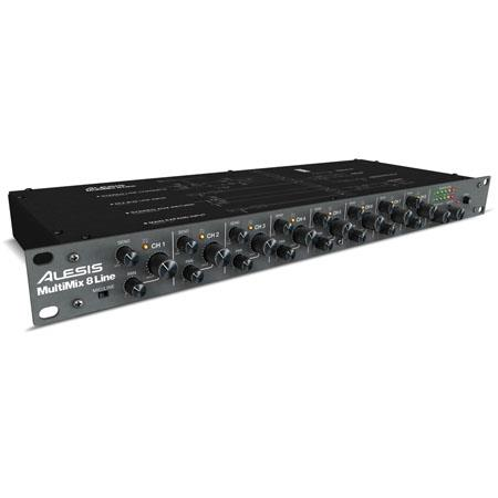 Alesis MultiMiLine Channel Stereo Audio Line Mixer 210 - 477