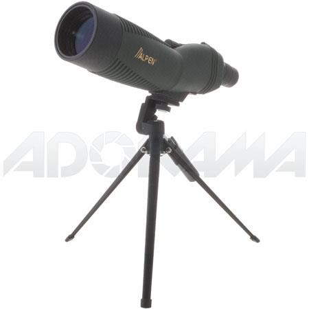 AlpenWaterproof Rubber Covered Straight View Spotting Scope Multi Coated Tripod and Carrying Case 43 - 741