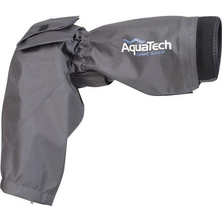 AquaTech SS G Sports Shield Rain Cover Canon and Nikon Lenses and Cameras Grey 84 - 45