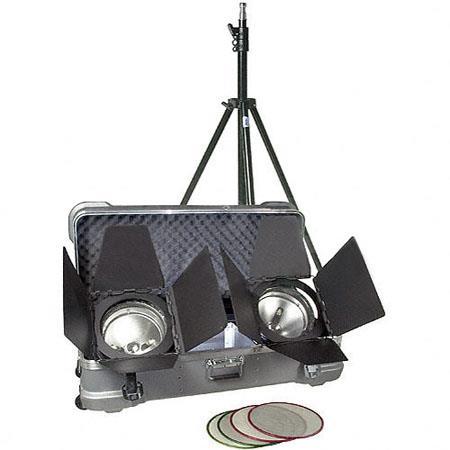 Arri Arrilite Plus Light Kit Total Watts Arrilite K Plus Focusing Floods Barndoor Set FEY Lamps 84 - 732