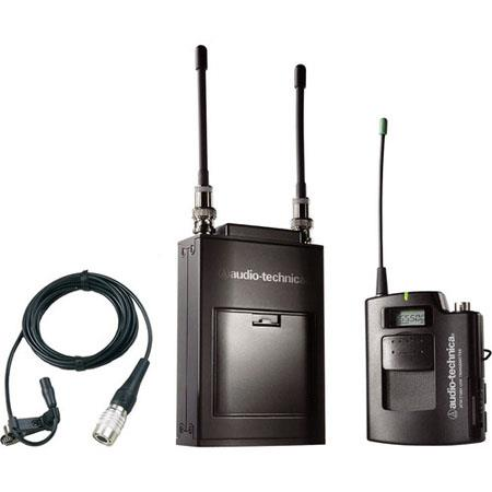 Audio Technica ATW D Wireless Microphone System ATW R Receiver ATW T UniPak Transmitter Band D MHz 100 - 528