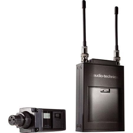 Audio Technica ATW C Wireless Microphone System Includes ATW R Receiver and ATW T Plug In Transmitte 100 - 528