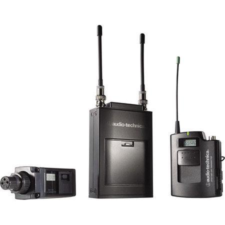 Audio Technica ATW C Wireless Microphone System ATW R Receiver ATW T Transmitter ATW T Bodypack Tran 389 - 73