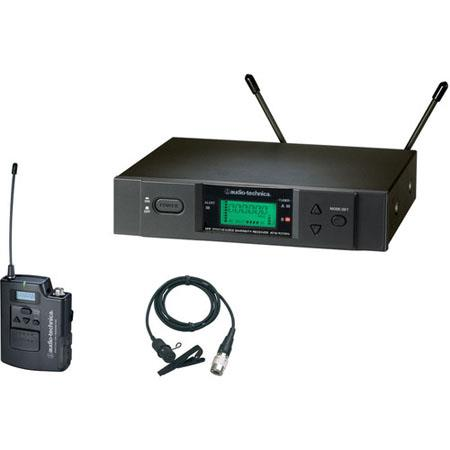 Audio Technica ATW B Body Pack System Includes ATW R Receiver ATW T UniPak Transmitter ATCW Lavalier 98 - 710