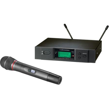 Audio Technica ATW B Wireless Handheld System Includes ATW RB Receiver ATW TB Handheld Transmitter B 73 - 715