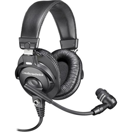 Audio Technica BPHS Broadcast Stereo Headset Cardioid Dynamic Boom Microphone 247 - 641