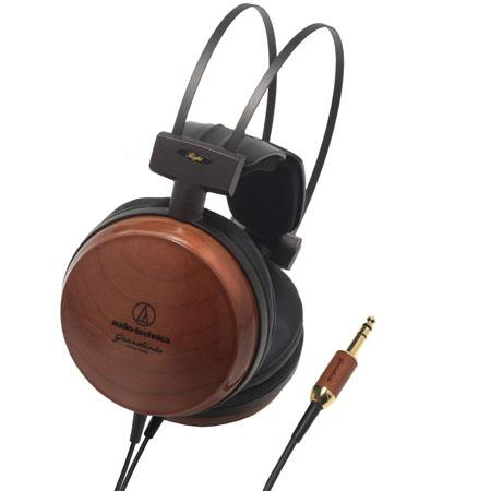 Audio Technica ATH WX Audiophile Closed back Dynamic Wooden Headphones Pure American Wood and D Wing 233 - 553