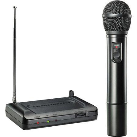 Audio Technica ATR T VHF Wireless Handheld Microphone System Includes Receiver Handheld Dynamic Micr 91 - 145