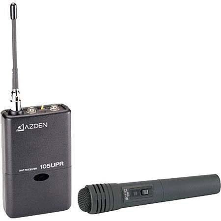 Azden HT Wireless Microphone System UPR Receiver HT Handheld Mic Transmitter 201 - 738