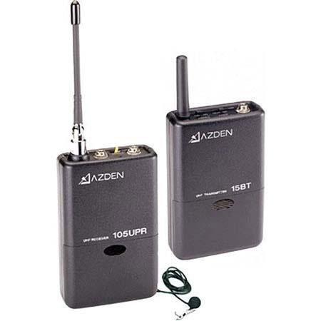 Azden LT Wireless Package UPR Receiver BT Belt Pack Transmitter EX L Lavaliere Microphone 201 - 738