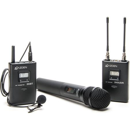 Azden LH UHF On Camera Handheld and Bodypack System Consists of UDR BTEX L and HT 214 - 365