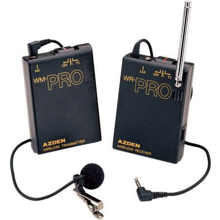 Azden WLX Pro Wireless Mic System Belt Pack Transmitter EX Lavalier Microphone 34 - 576