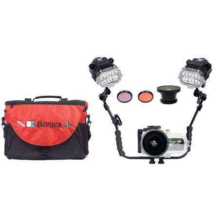 Bonica JVC JVC PRO Kit JVC HM Underwater Video Camera Housing Wide Angle Lens Filter Double GV Video 157 - 607