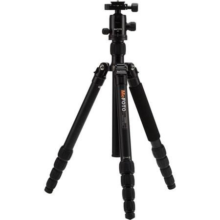 MeFOTO GlobeTrotter Aluminum Travel Tripod Kit Sections lbs Load Capacity MaHeight  89 - 463