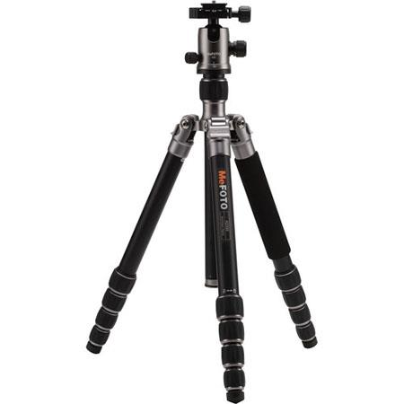 MeFOTO GlobeTrotter Aluminum Travel Tripod Kit Sections lbs Load Capacity MaHeight Titanium 66 - 411