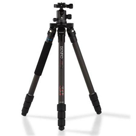 Benro CTB Flat Traveller Carbon Fiber Tripod Kit Leg Section kg lbs Load Capacity 88 - 97