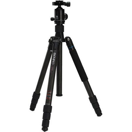 Benro CTV Travel Angel Triple Transfunctional Carbon Fiber Tripod Kit V Ball Head 44 - 666