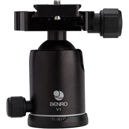 Benro Double Action V Ball Head lbs Load Capacity degdeg Tilt Range 165 - 232