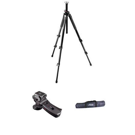 Manfrotto BGMTXP Tripod Kit RC Grip Action Ball Quick Release Head Tripod Case 220 - 792