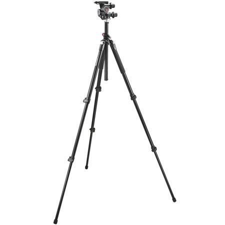 Manfrotto BGMTXP Aluminum Tripod Compact Geared Head Maximum Height Supports lbs 241 - 636