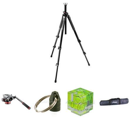 Manfrotto BGMTXP Tripod Kit Mafrotto MVHAH Pro Video Head Quick Release and Flat Base Flashpoint Tri 133 - 628