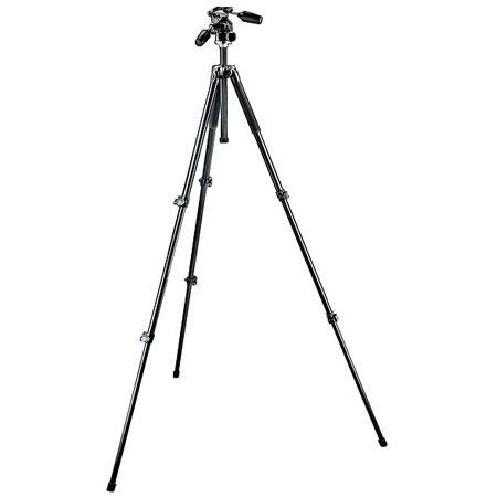 Manfrotto Aluminum Section Tripod Way PhotoVideo Head MaHeight Supports lbs 143 - 756