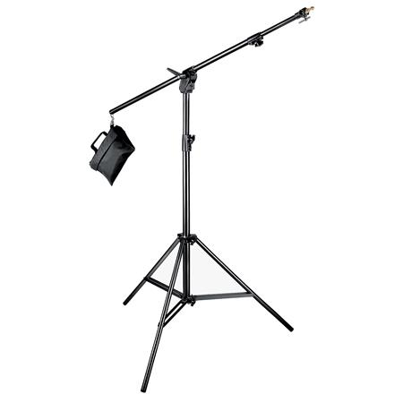 Manfrotto Boom Stand Black Anodized Section Stand Convertible to Double Extension Boom and Stand wSa 48 - 612