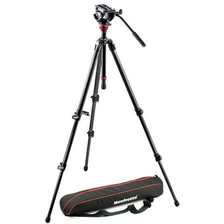Manfrotto MVHAH Professional Fluid Video System Carbon Legs MDeVe lbs Load Capacity Maximum Height 60 - 396